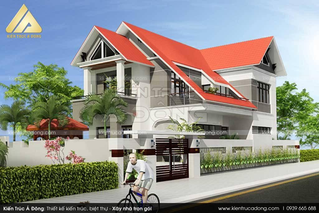 Biệt thự 2 tầng hiện đại ở Tây Hồ thoáng đãng
