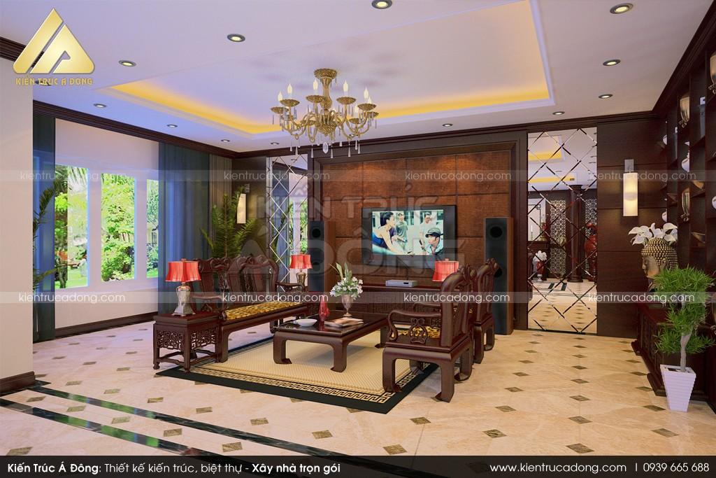 Thiết kế nội thất biệt thự tân cổ điển đẹp