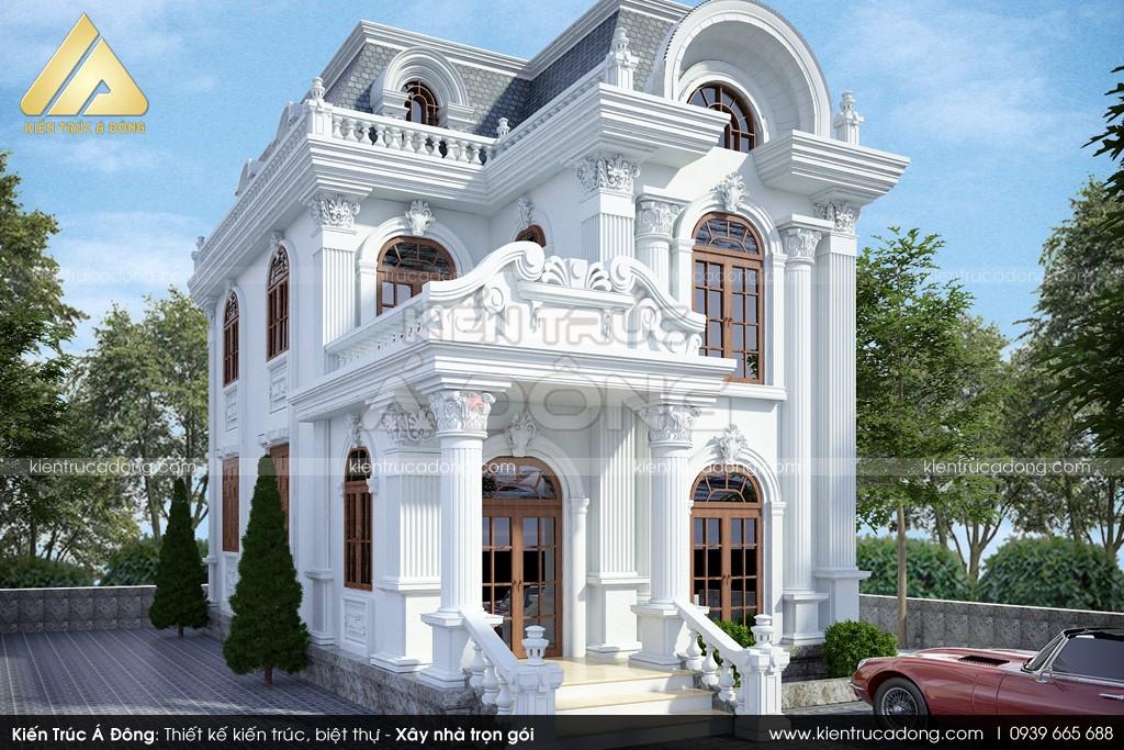 Mẫu dinh thự cổ điển 2 tầng mặt tiền 8m