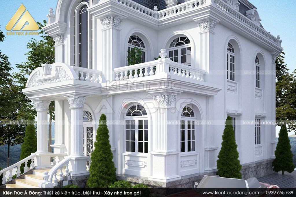 Mẫu lâu đài cổ điển 2 tầng mặt tiền 8m