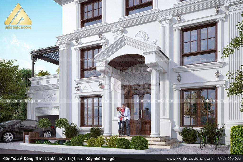 Thiết kế biệt thự tân cổ điển 3 tầng tại Bắc Ninh