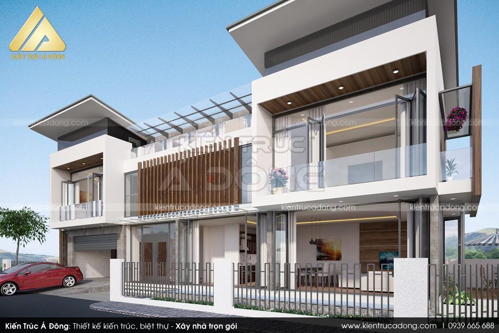 Mẫu biệt thự 2 tầng phong cách hiện đại tại Điện Biên
