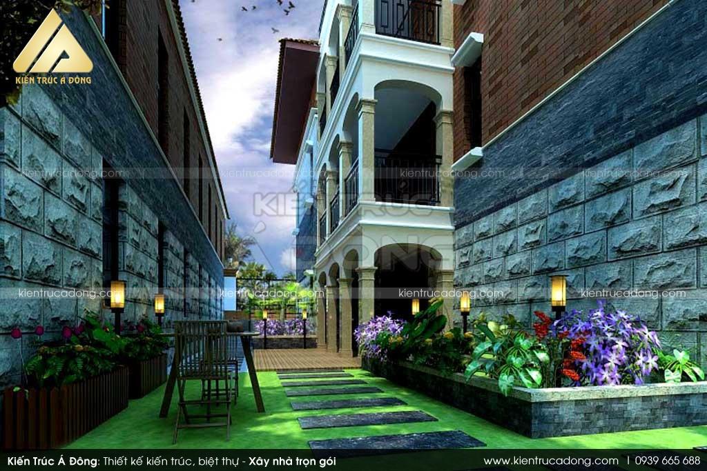 Mẫu thiết kế sân vườn biệt thự đẹp, hiện đại tại Hải Phòng