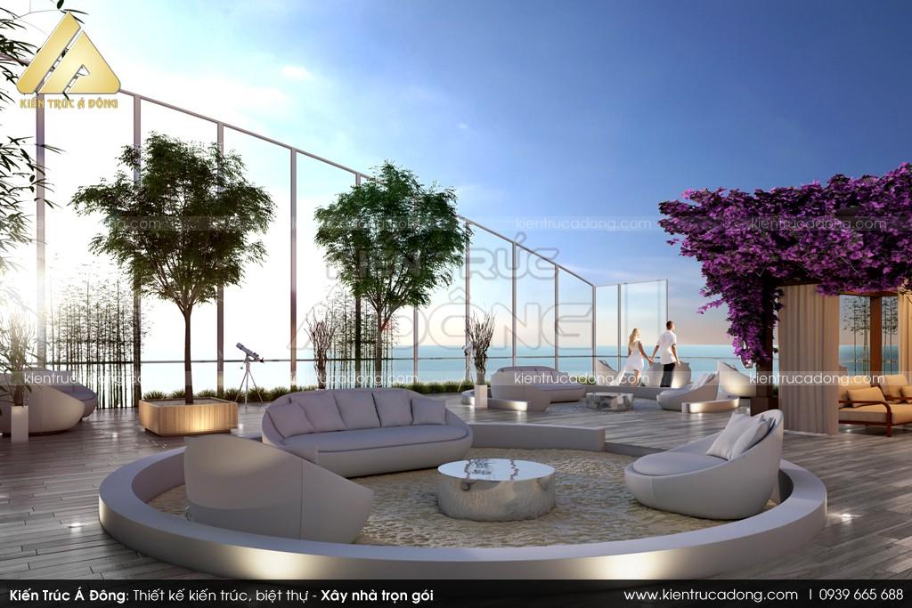 Mẫu thiết kế sân vườn trên sân thượng TP Hồ Chí Minh