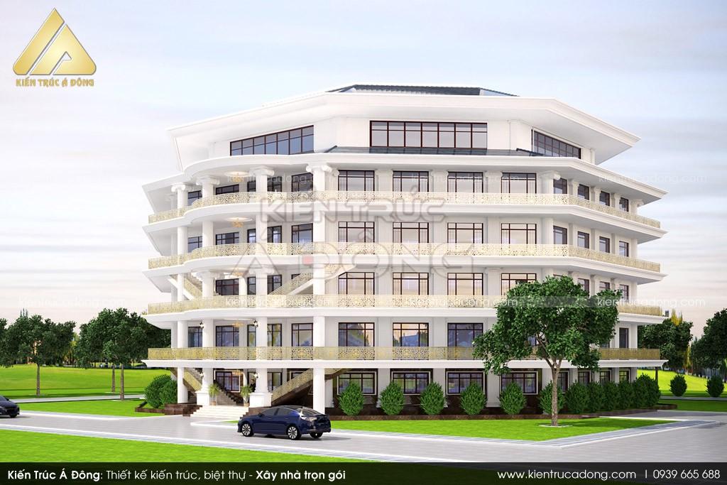 Mẫu thiết kế Tổ hợp khách sạn cao cấp đạt tiêu chuẩn 5 sao