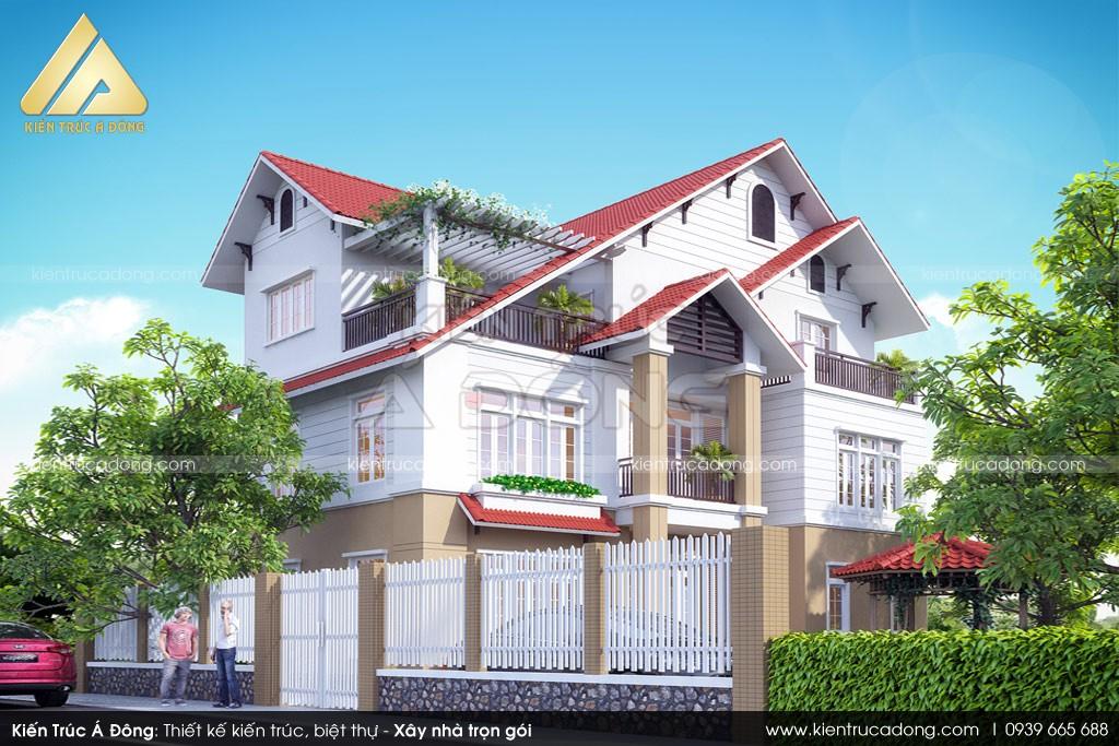 Mẫu biệt thự hiện đại 3 tầng sang trọng tại Hà Giang