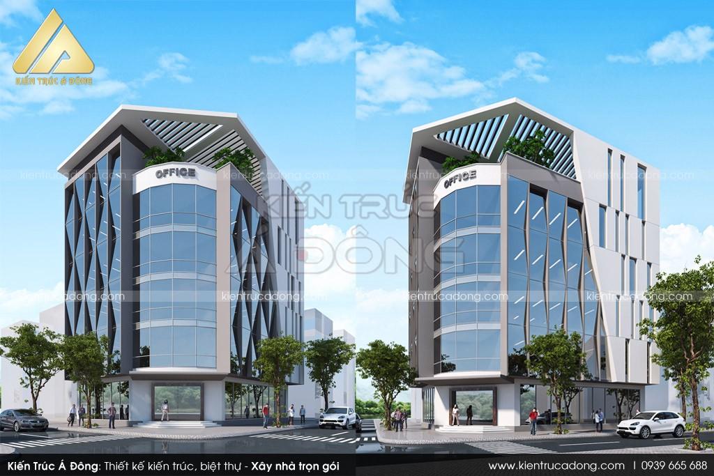 Thiết kế toà nhà văn phòng 6 tầng theo phong cách hiện đại