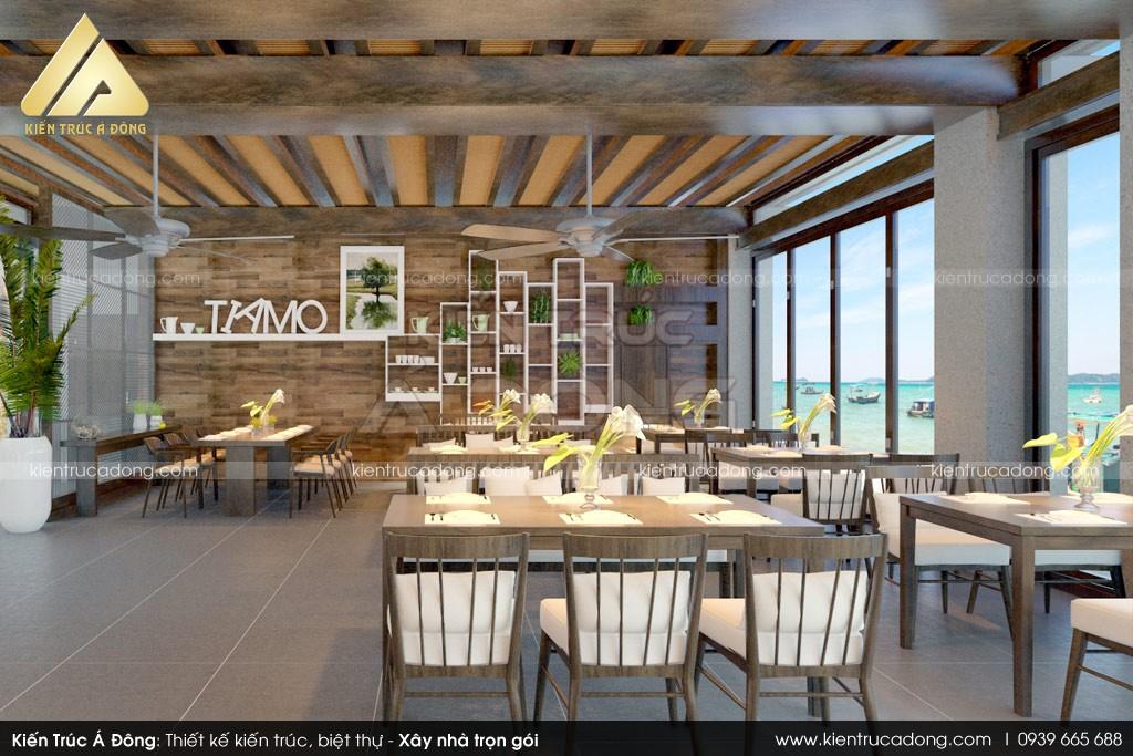 Mẫu thiết kế nhà hàng đẹp - nhà hàng hải sản Hòn Khô