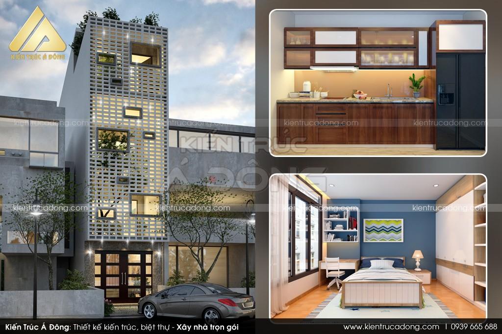 Mẫu nhà phố 4,5 tầng hiện đại, sang trọng tại Hải Phòng