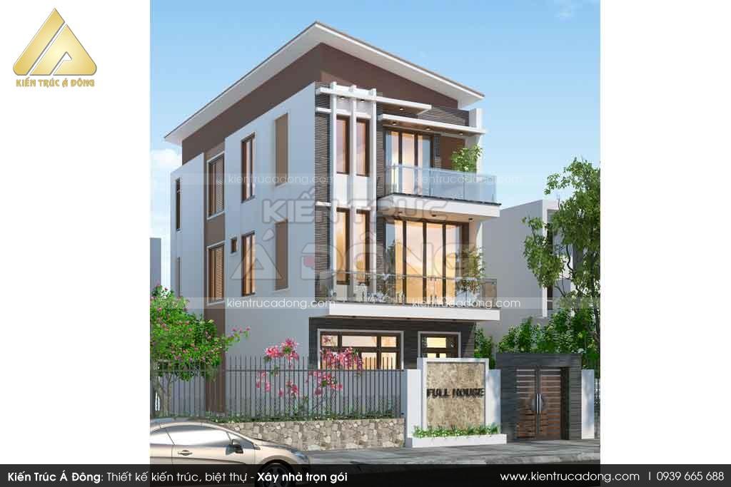 Mẫu nhà phố 3 tầng phong cách hiện đại tại Quảng Ninh