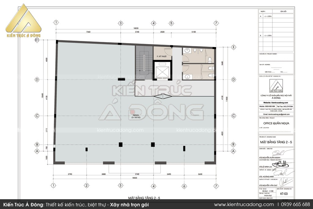 Mẫu thiết kế toàn nhà văn phòng công ty thép Đất Việt