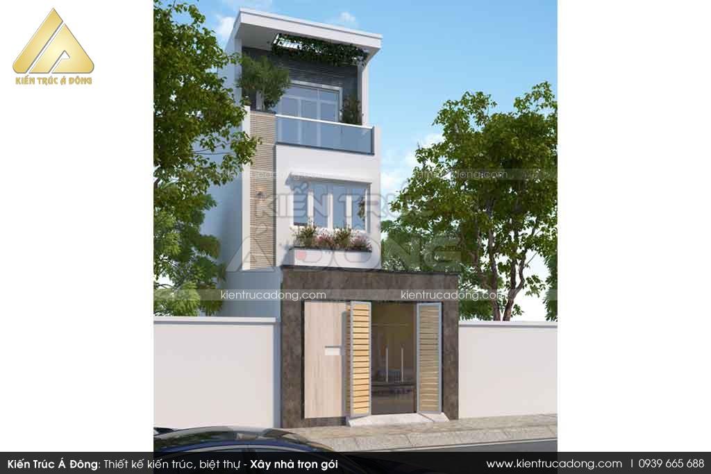 Mẫu nhà phố 3 tầng phong cách hiện đại tại Ninh Bình
