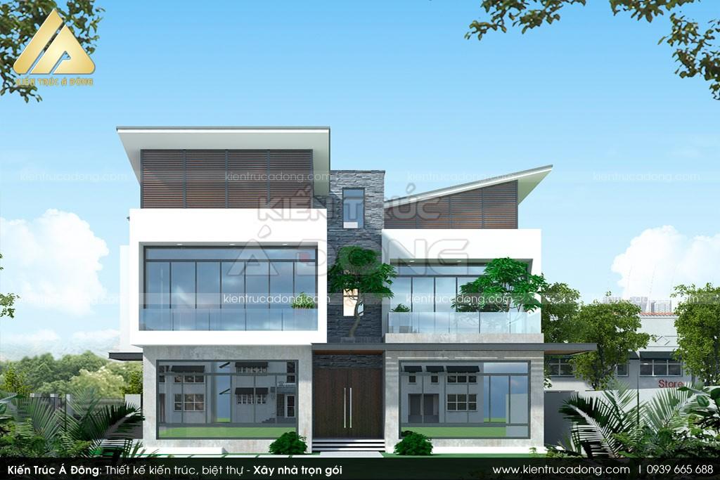 Thiết kế biệt thự 3 tầng độc đáo tại Quảng Ninh