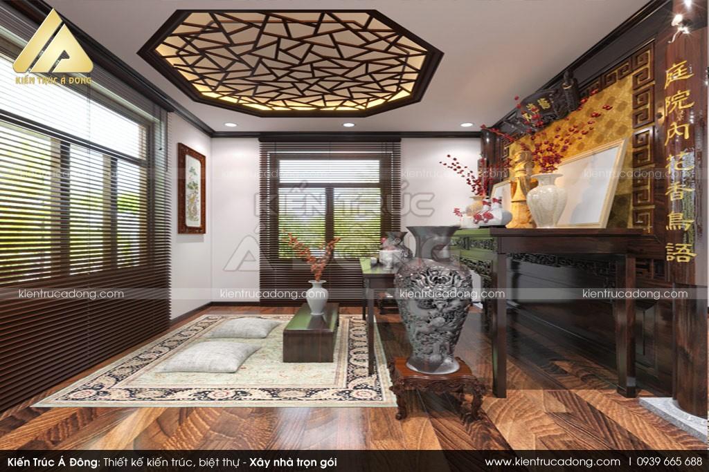 Thiết kế biệt thự 2 tầng mái thái tại Nha Trang