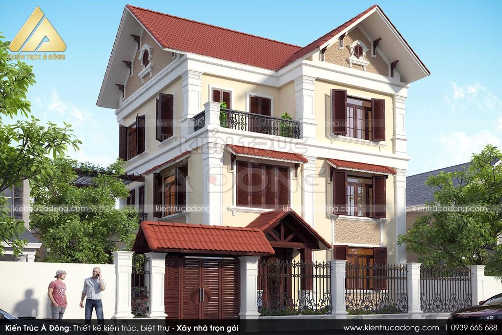 Thiết kế biệt thự 3 tầng tại Bắc Ninh