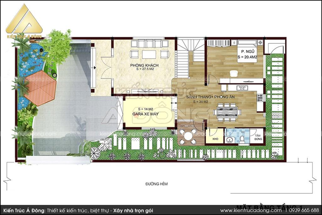 Mẫu dinh thự Tây Hồ hiện đại 2,5 tầng mơ ước