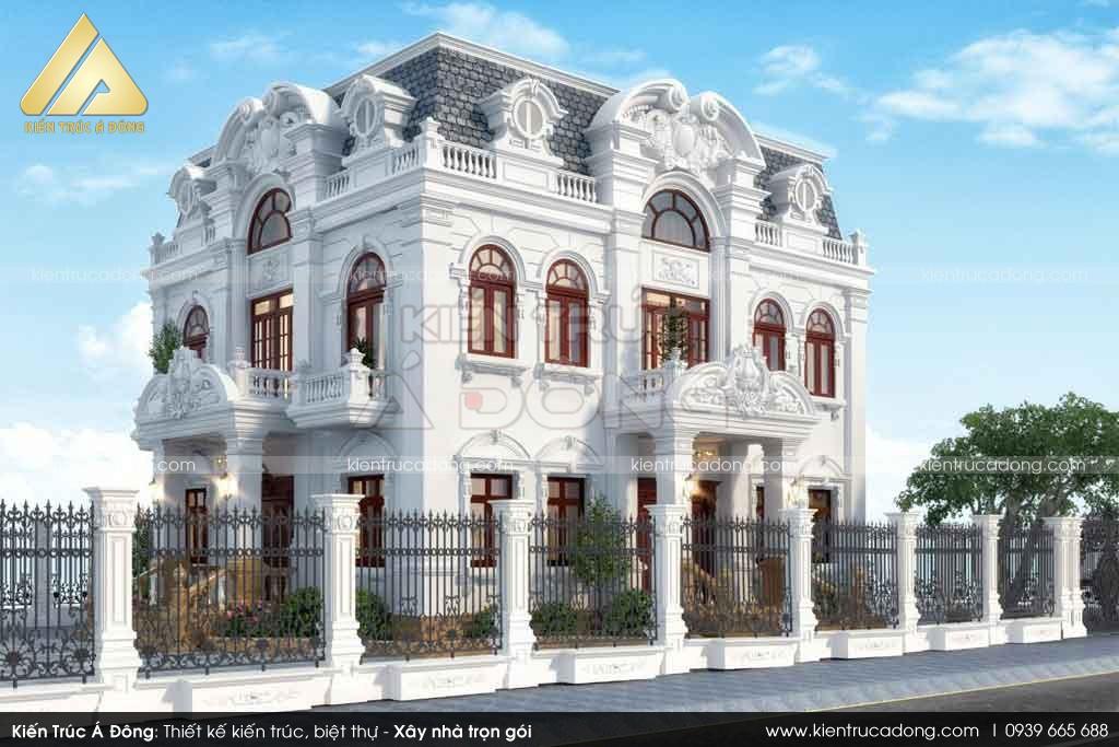 Thiết kế biệt thự tân cổ điển 2 tầng tại Kon Tum