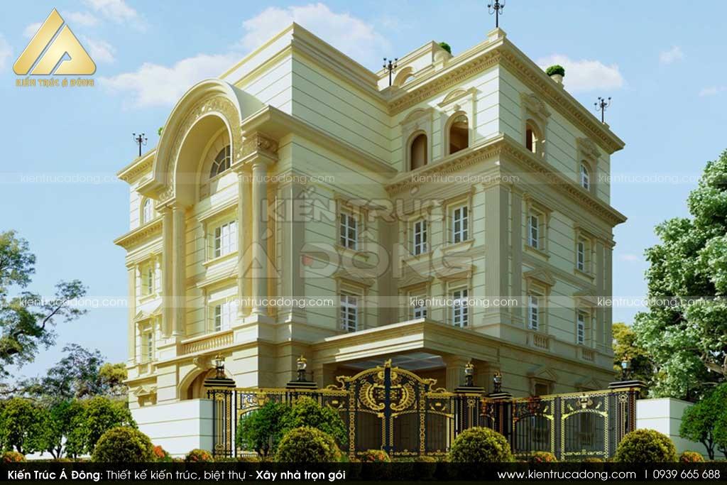 Thiết kế biệt thự 3 tầng cổ điển sang trọng