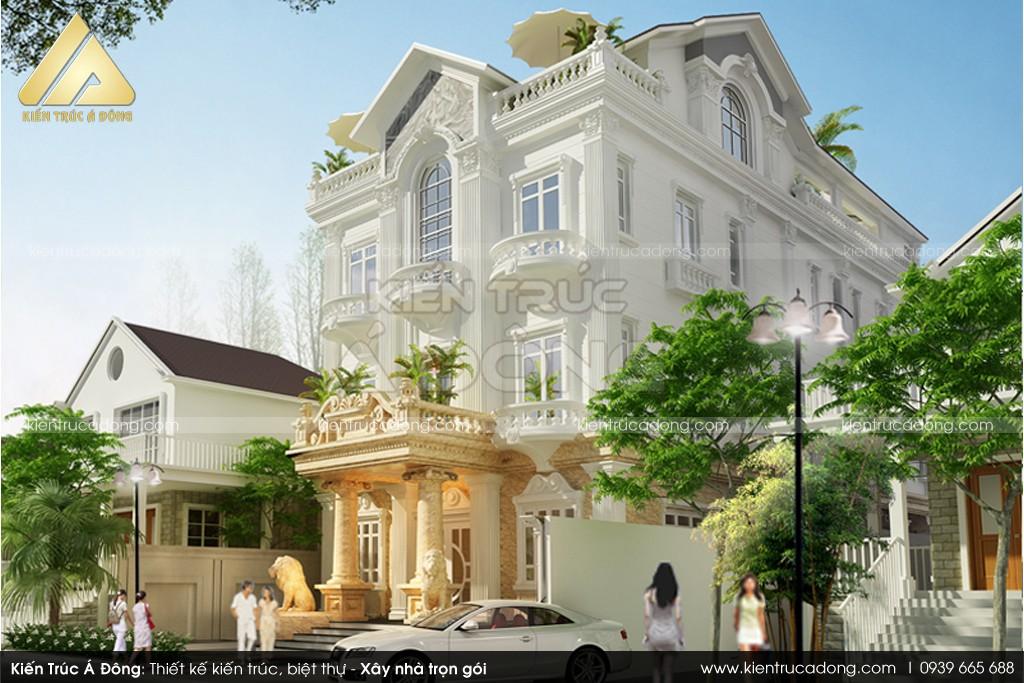 Mẫu biệt thự cổ điển 3 tầng đẹp, sang trọng tại TP Hội An