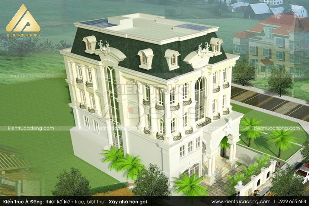 Mẫu lâu đài cổ điển đẹp, đẳng cấp tại TP Hà Nội