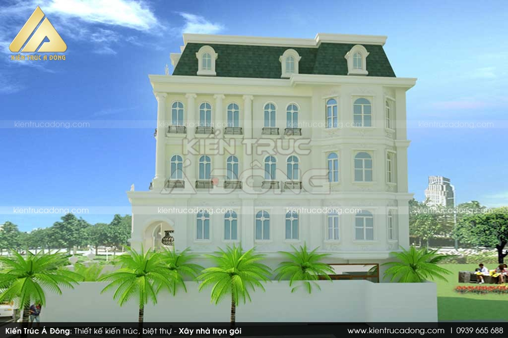 Mẫu dinh thự cổ điển đẹp, đẳng cấp tại TP Hà Nội
