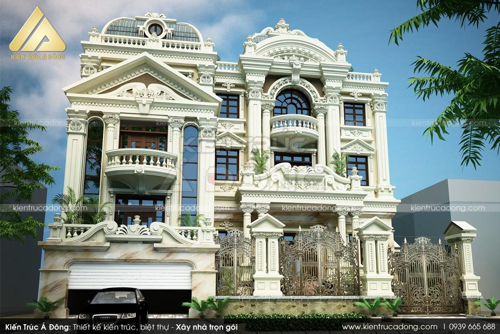 Mẫu thiết kế dinh thự 3 tầng cổ điển Hải Phòng