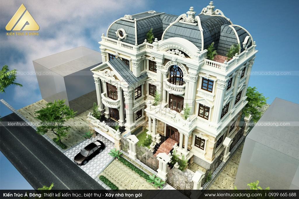 Mẫu thiết kế lâu đài 3 tầng cổ điển Hải Phòng