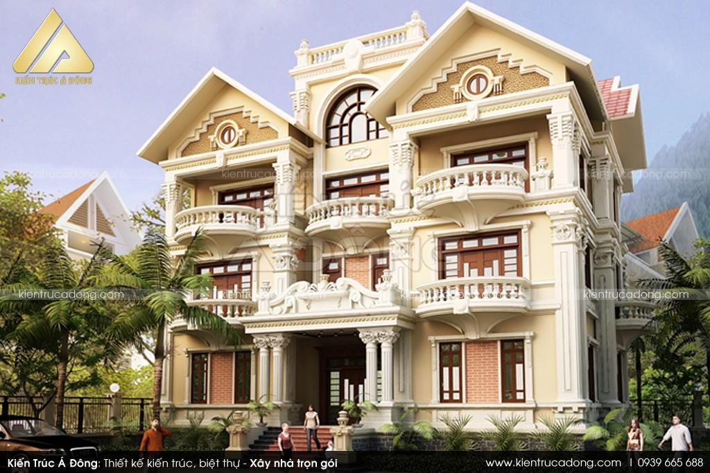 Mẫu thiết kế mẫu lâu đài tân cổ điển đẹp