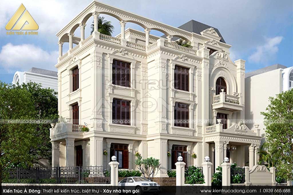 Mẫu lâu đài cổ điển đẹp, sang trọng ở Nam Định