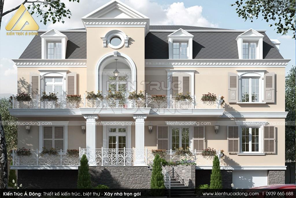 Mẫu dinh thự phong cách Châu Âu 2.5 Tầng tại Đà Lạt