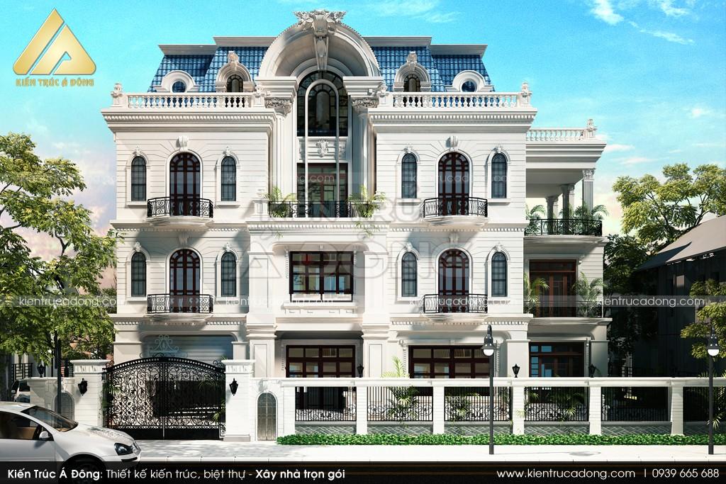 Mẫu thiết kế lâu đài cổ điển 3 tầng tại Bắc Ninh