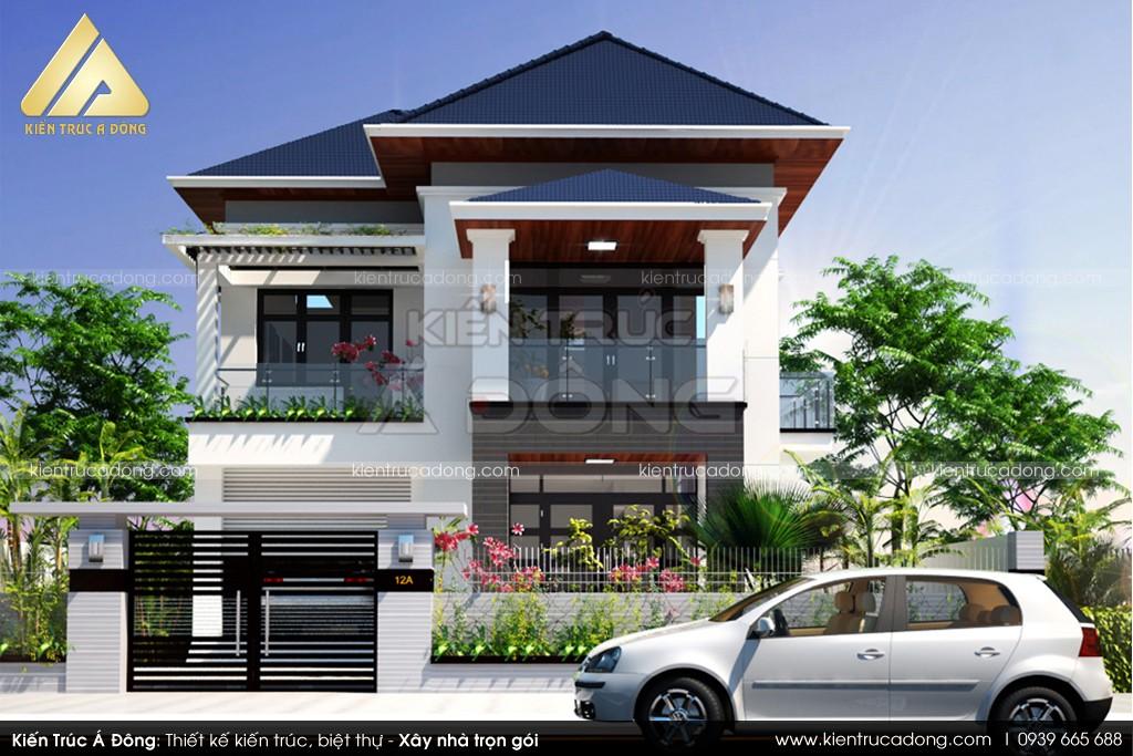 Mẫu dinh thự 2 tầng hiện đại ở thành phố Hà Nội