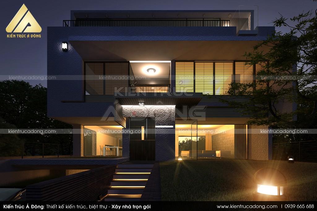 Mẫu nhà dinh thự 3 tầng đẹp, đẳng cấp tại Thái Nguyên