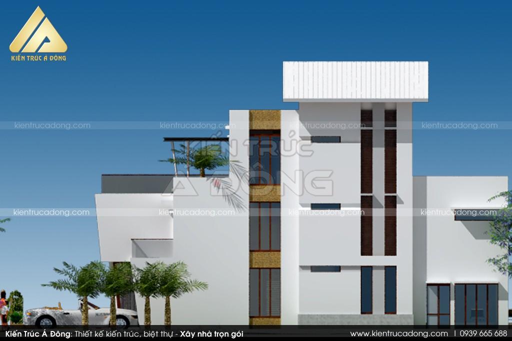Mẫu thiết kế dinh thự song lập đẹp, lạ mắt