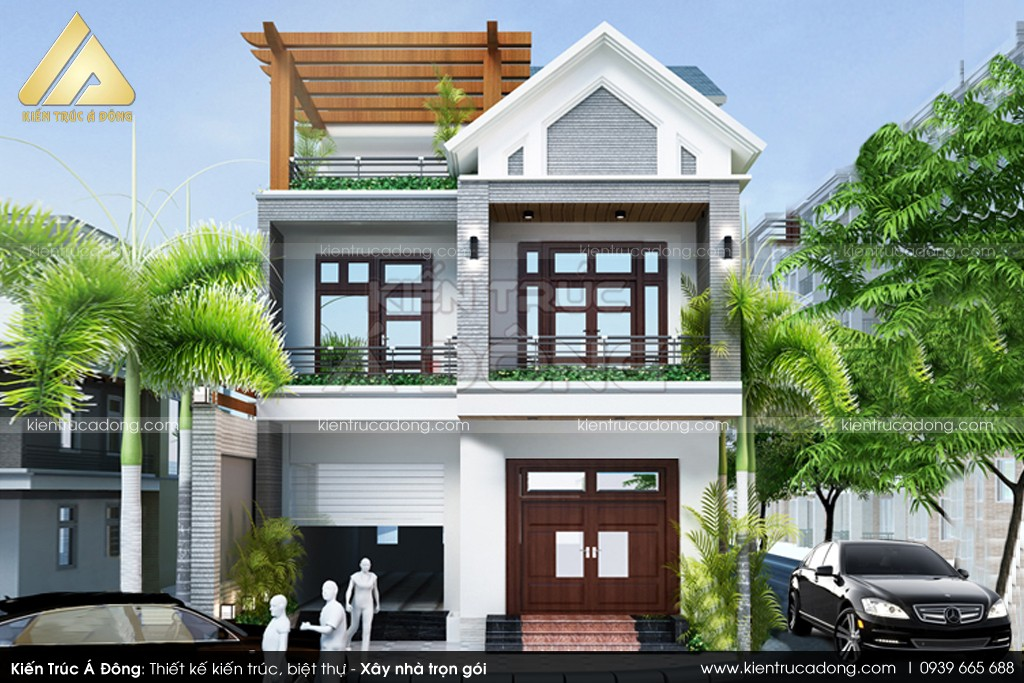 Thiết kế dinh thự 2 tầng cao cấp ở Vĩnh Phúc