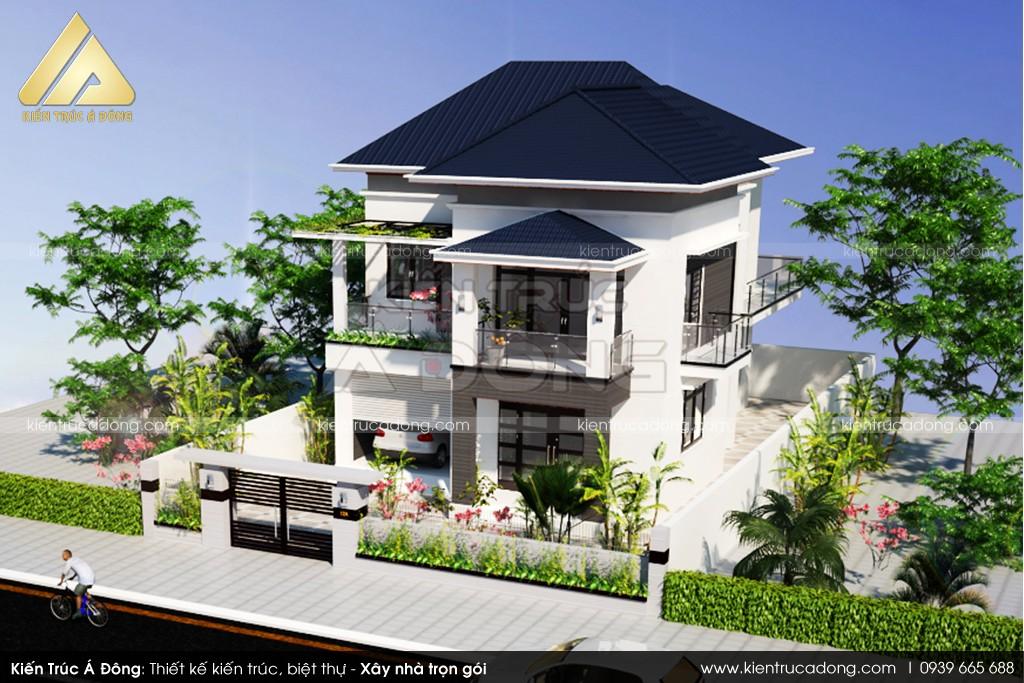 Mẫu biệt thự 2 tầng hiện đại ở thành phố Hà Nội