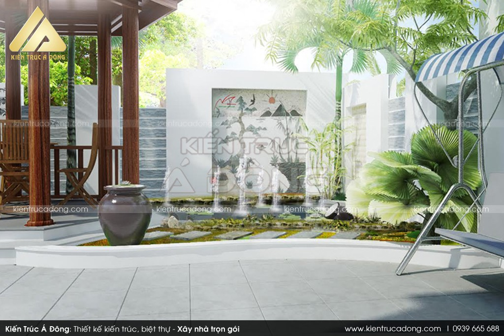 Thiết kế biệt thự đẹp 2 tầng đơn giản tinh tế tại quận Tây Hồ