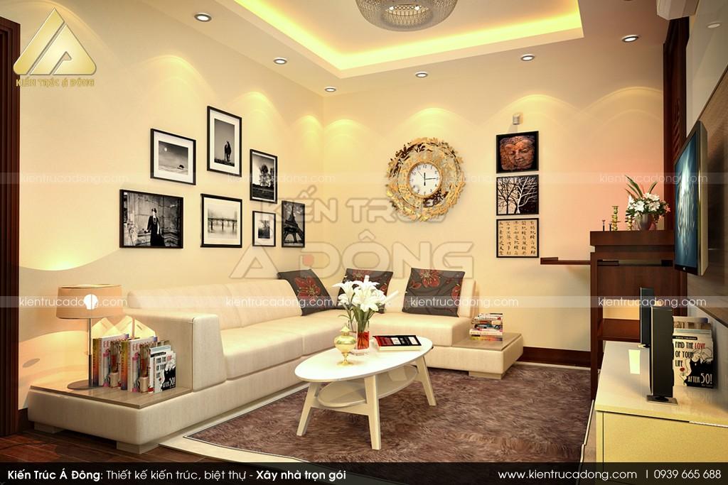 Thiết kế dinh thự đẹp 2 tầng đơn giản tinh tế tại quận Tây Hồ