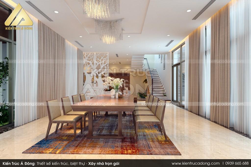 Mẫu dinh thự hiện đại 2 tầng đẹp đầy sáng tạo