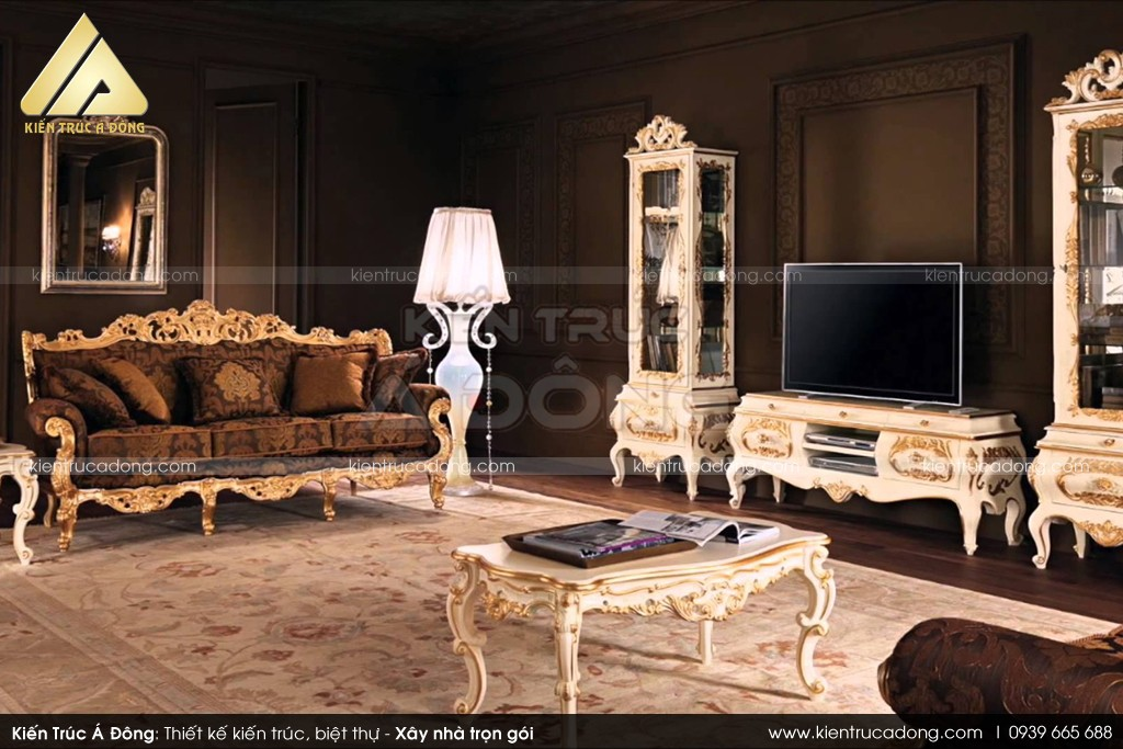 Mẫu thiết kế biệt thự cổ điển Pháp 2,5 tầng đẹp đẳng cấp