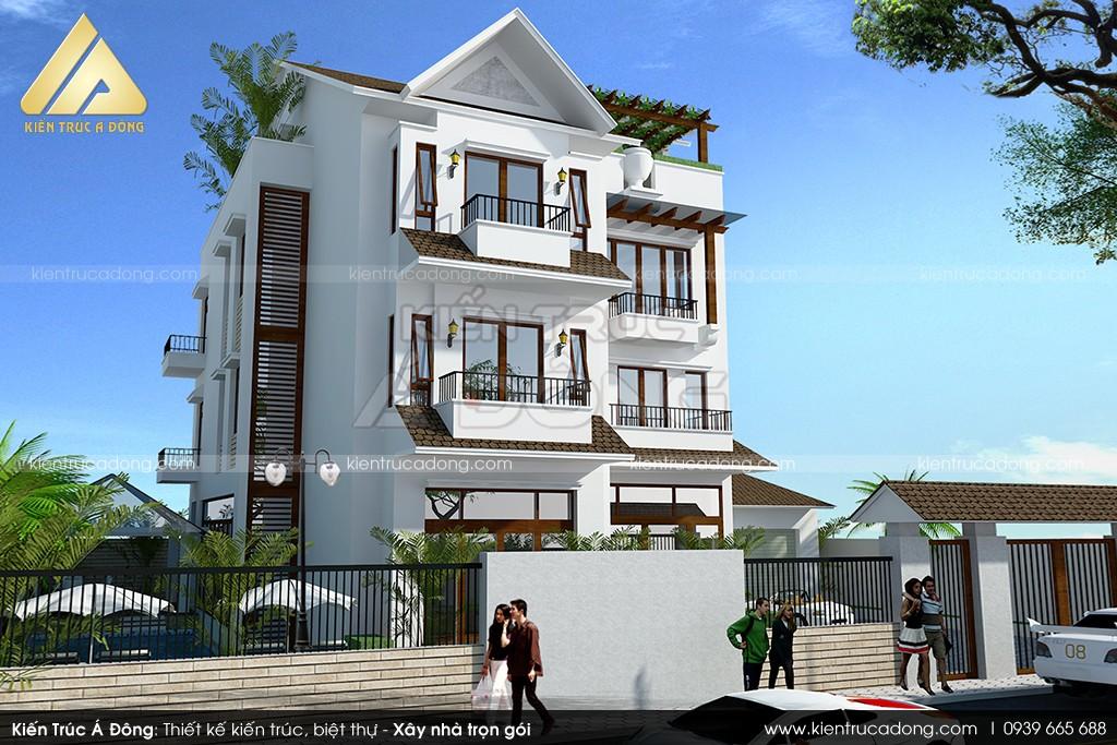 Mẫu thiết kế dinh thự hiện đại 3 tầng tại TP Sơn La
