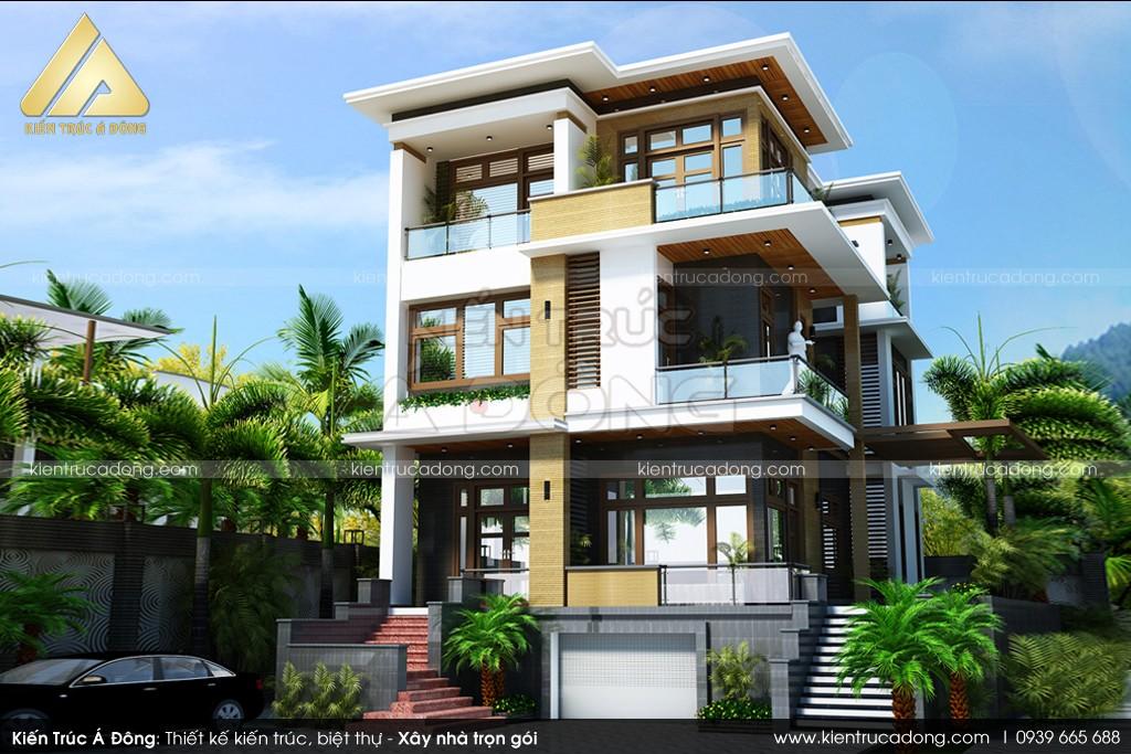 Mẫu dinh thự hiện đại 3 tầng sang trọng tại TP Quảng Ninh