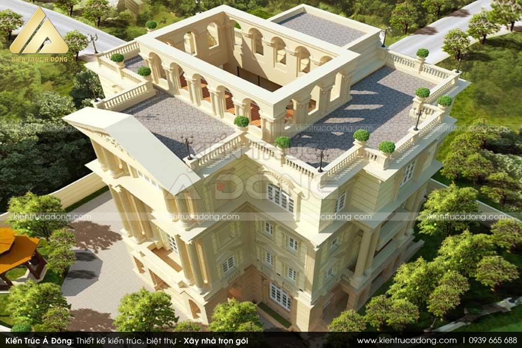 Mẫu biệt thự tân cổ điển sang trọng 4 tầng tại TP Hà Nội