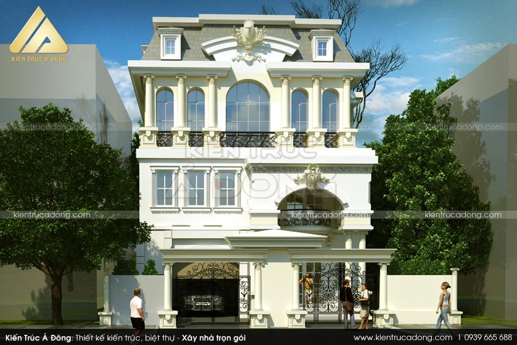 Mẫu lâu đài 3 tầng cổ điển sang trọng nhất TP Hà Nội