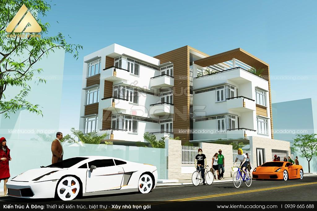Mẫu dinh thự hiện đại 4 tầng đẹp tại TP Nha Trang