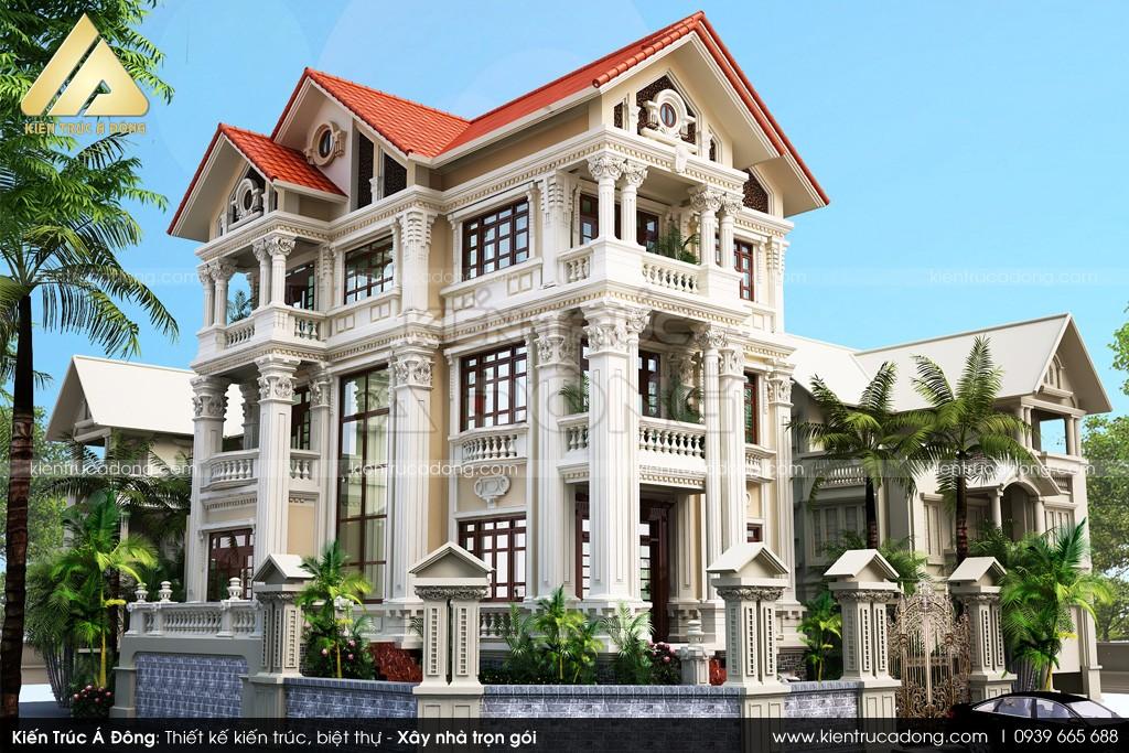 Mẫu thiết kế biệt thự cổ điển đẳng cấp