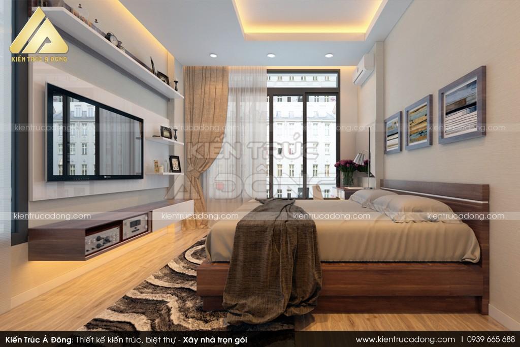 Mẫu thiết kế nhà dinh thự 4 tầng hiện đại, sang trọng